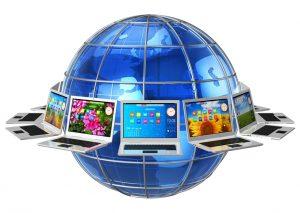 Global computer communication concept